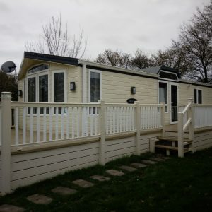 Static Caravan Decking | Mobile Home Veranda PVC Balcony