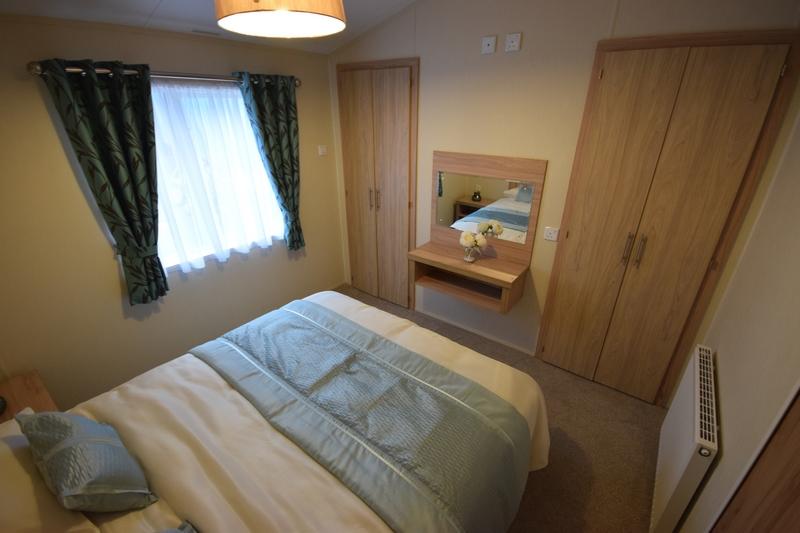 Sunrise Lodge II Mobile Home Annexe Master Bed Wardrobes
