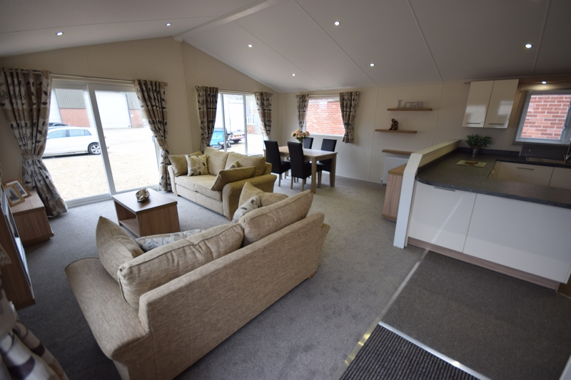 Sunrise Lodge II Mobile Home Annexe Lounge 1