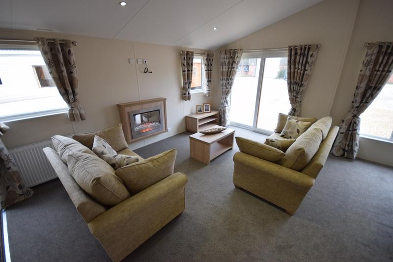 Sunrise Lodge II Mobile Home Annexe Lounge 2