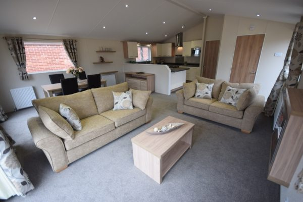 Sunrise Lodge II Mobile Home Annexe Lounge 3