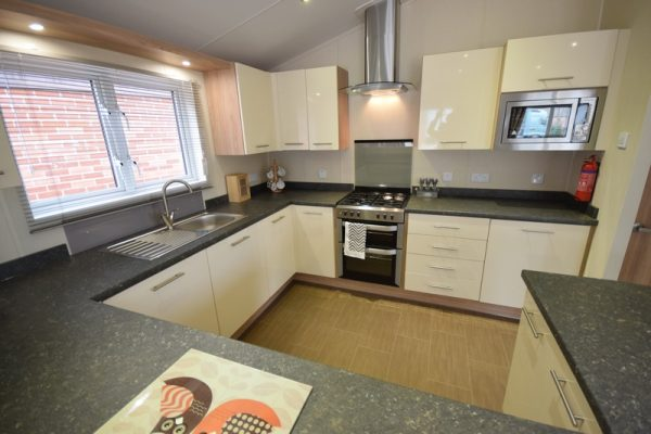 Sunrise Lodge II Mobile Home Annexe Side Kitchen 2