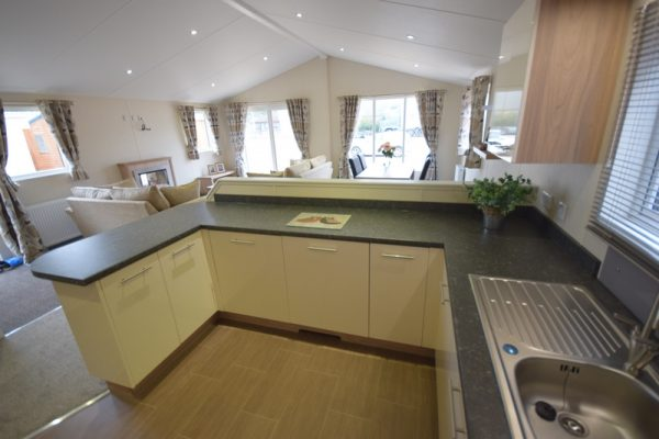 Sunrise Lodge II Mobile Home Annexe Side Kitchen 3