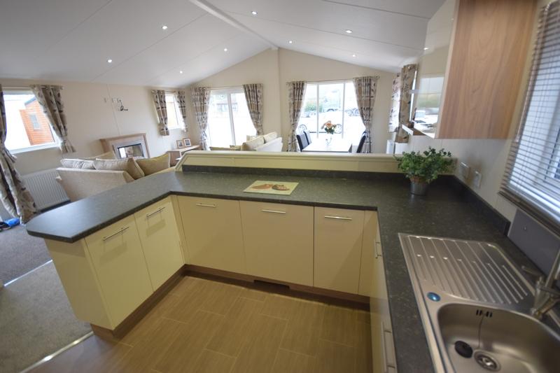 Sunrise Lodge II Mobile Home Annexe Side Kitchen 3