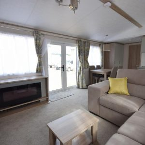 New Carnaby Oakdale Static Caravan Mobile Home Living Room