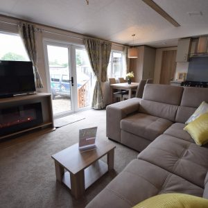 Carnaby Oakdale Static Caravan Mobile Home Lounge View