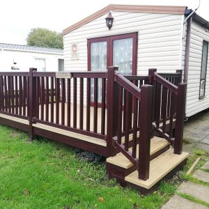 Used Static Caravan Decking For SAle